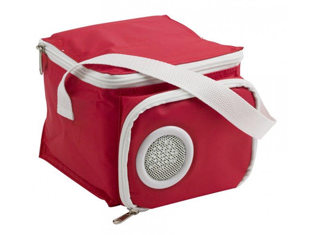 Termo taška s reproduktorem červená