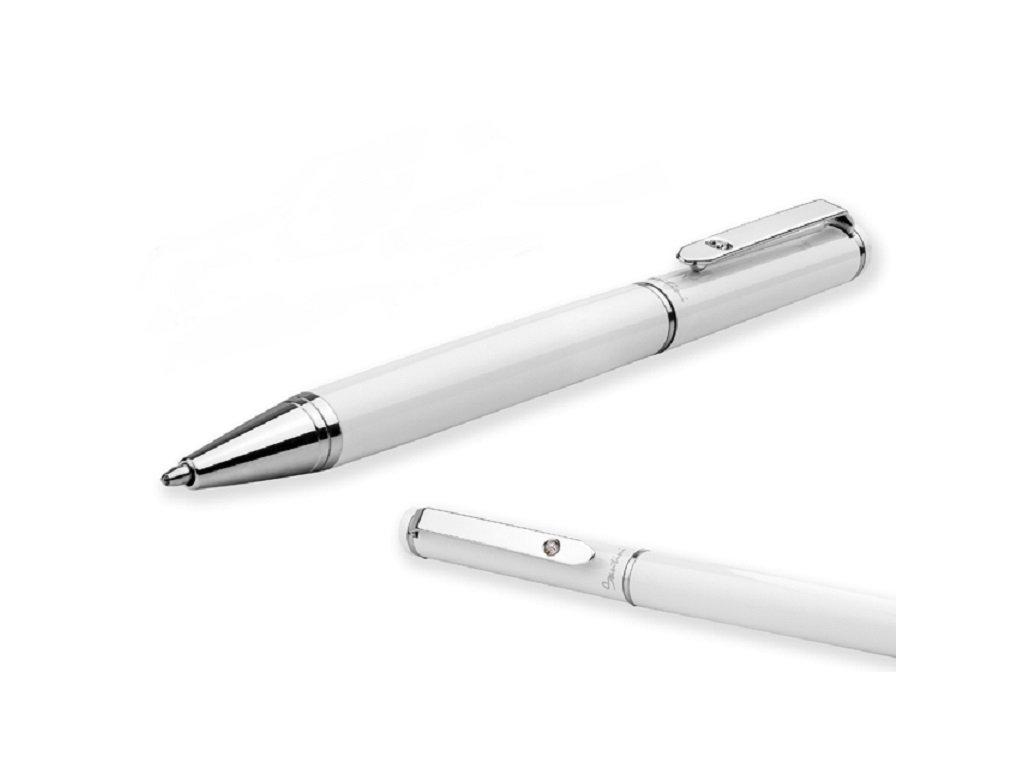 CALIOPE kovové kuličkové pero, SANTINI, Bílá