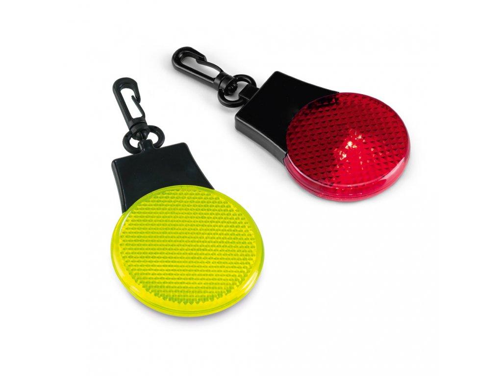 Bezpečnostní plastové LED světlo s karabinou