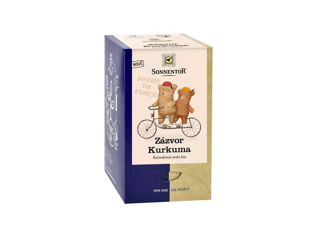 Zázvor Kurkuma, kořeněný čaj BIO