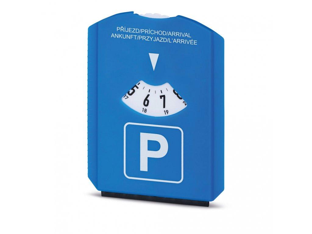 01156 20 LAURIEN plastové parkovací hodiny se škrabkou, modrá