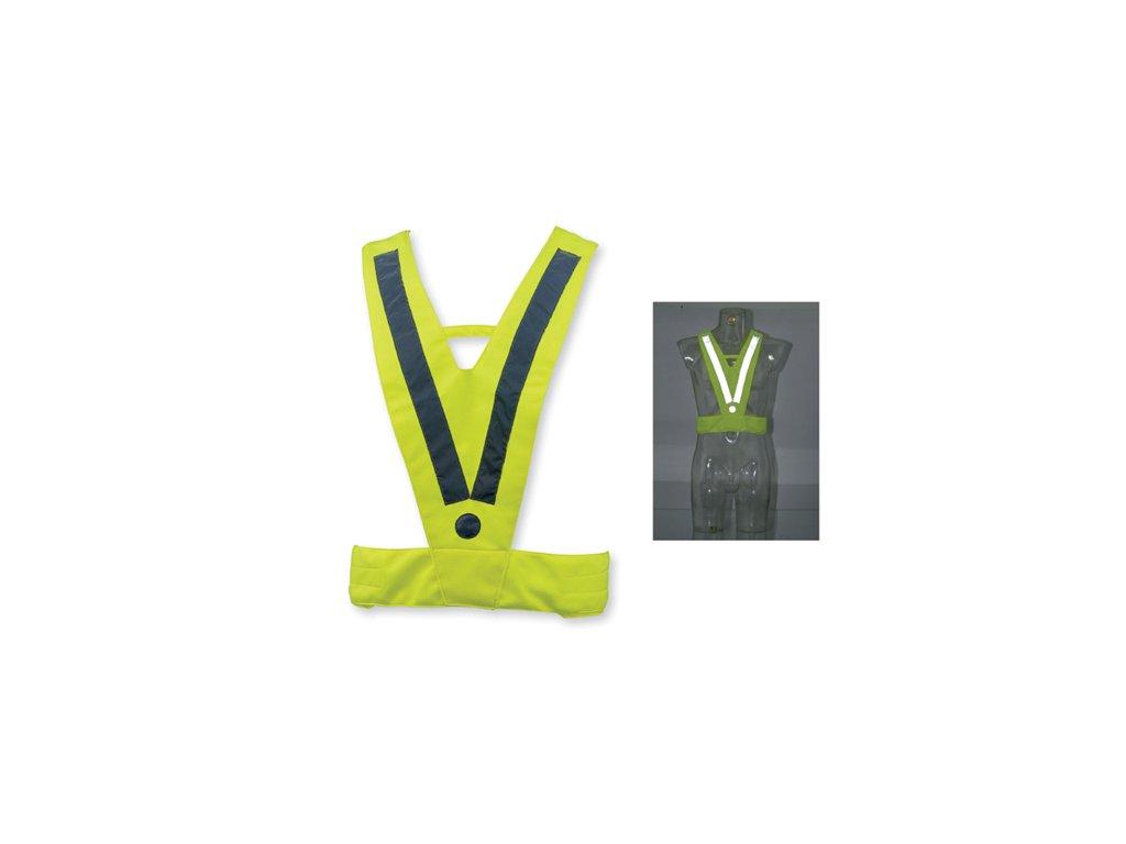 01176 80 ATILA II polyesterová reflexní vesta, dospělá velikost, žlutá