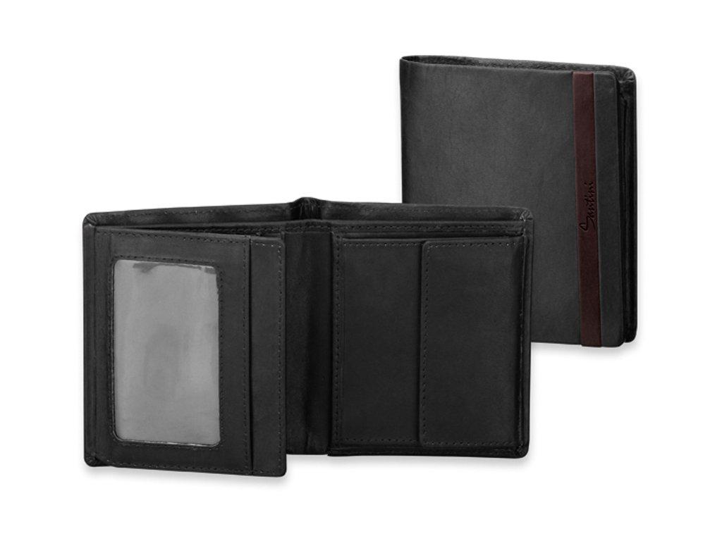 GRIMALDO černé kožená pánská peněženka, s ochranou kreditních karet, SANTINI 92562 03