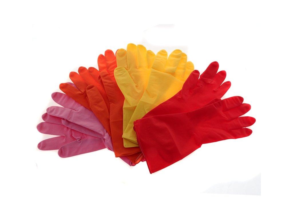 Gumové rukavice 1 pár mix