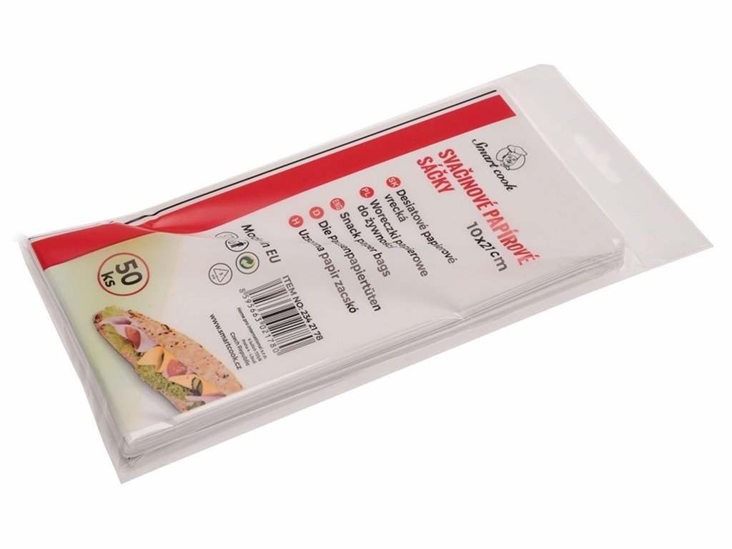 Svačinové papírové sáčky 10x21 cm 50 ks 2342178