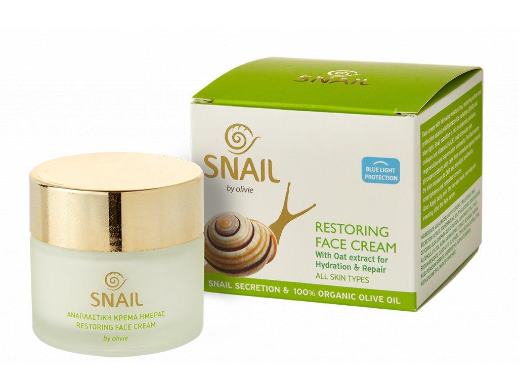 Regenerační krém na obličej se šnečí sekrecí a organickým olivovým olejem 60 ml