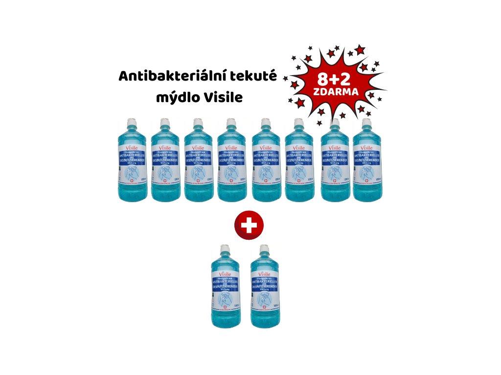 Visile antibakteriální tekuté mýdlo 1 litr 8+2