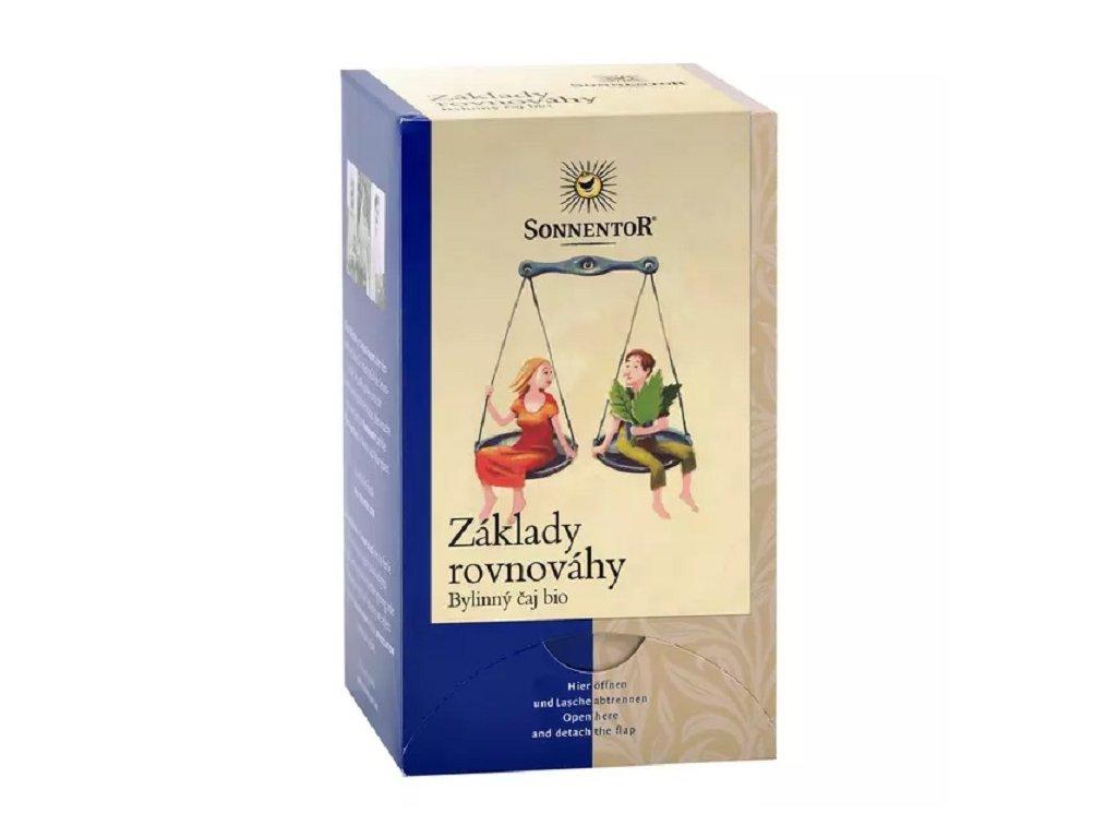 Čaj Základy rovnováhy bio 27 g porcovaný dvoukomorový