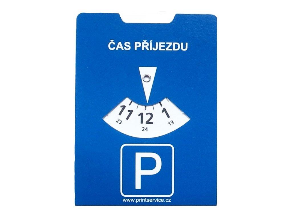 Papírové parkovací hodiny front
