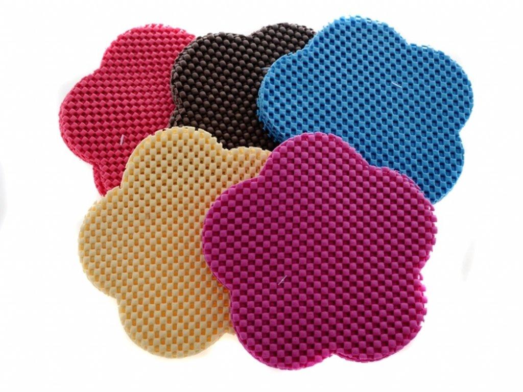 Podložky protiskluzové pod skleničky a hrnečky mix barev 2097231