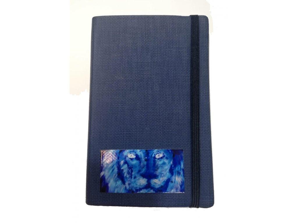 Poznámkový blok modrý 3