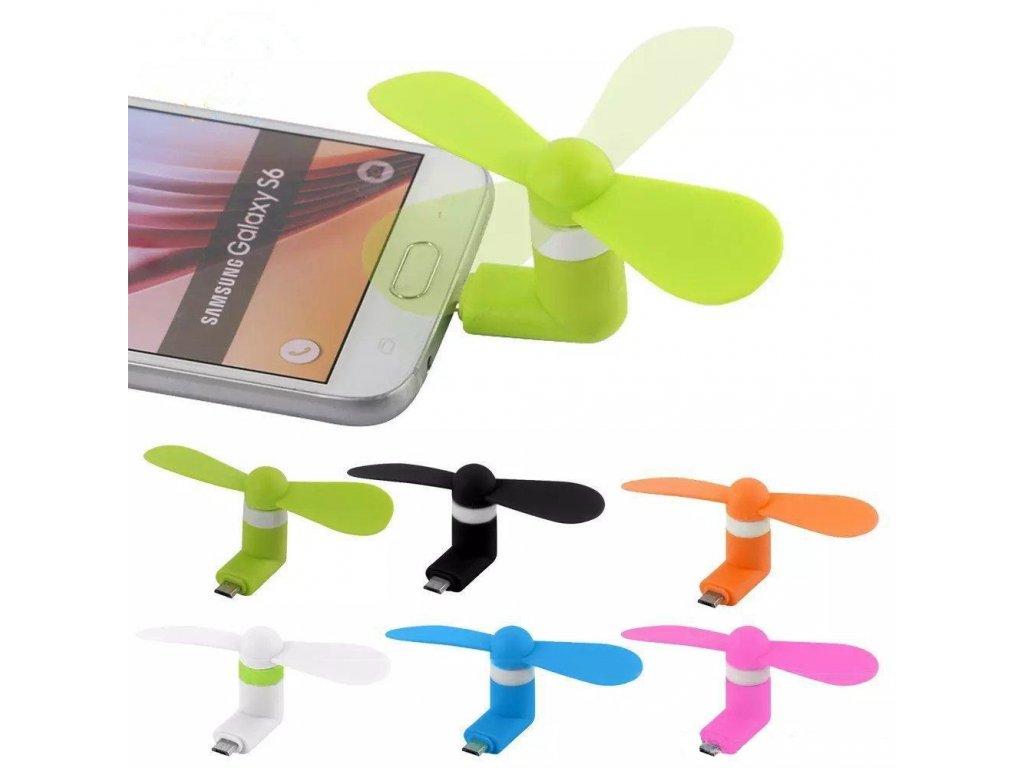 Větráček Mini USB k mobilním telefonum MIX barev