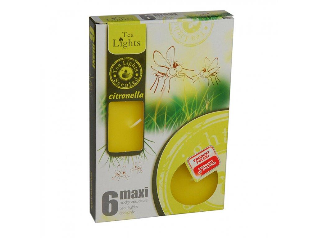 Svíčky Maxi 6 ks citronella proti komárům
