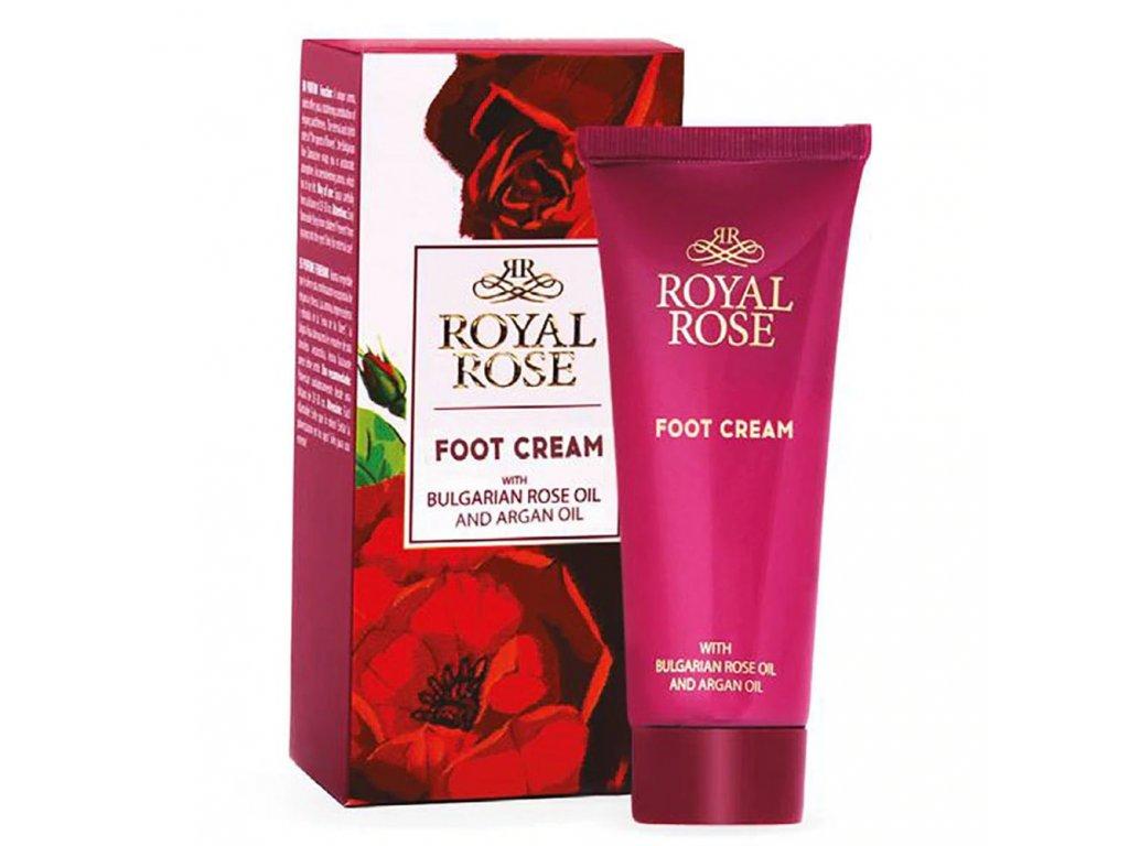 Krém na nohy s růžovým a arganovým olejem 75 ml