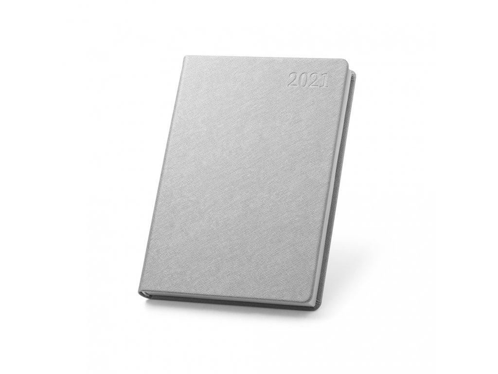 56093 27 FITZ diář A5, saténově stříbrnna 1