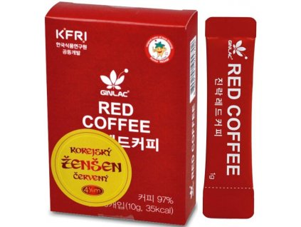 KÁVA S ŽENŠENEM RED COFFEE 10G