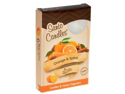 čajové vonné svíčky 6 ks Orange Spice