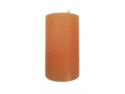 Svíčka rustikální 253g 10x6cm oranžová 49