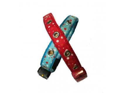 Svítící obojek pro psy modrý a červený 1