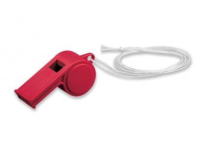 ARBITER plastová píšťalka na šňůrce, Červená
