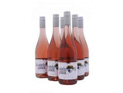 Víno levandulový švihák 0,7l 6 ks láhev