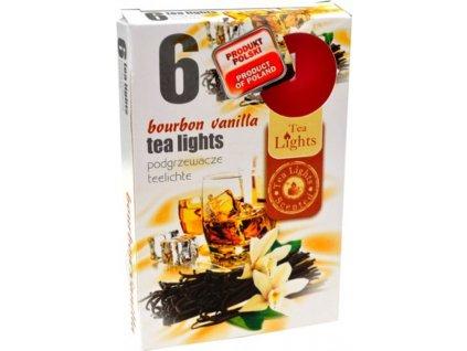 čajové vonné svíčky 6 ks Burbon Vanilla