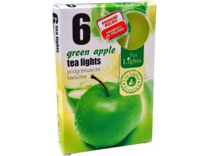 čajové vonné svíčky 6 ks Green Apple