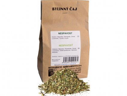 Nespavost, bylinný čaj 100g