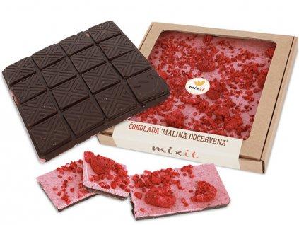 Čokoláda 'Malina dočervena' MIXIT 250g