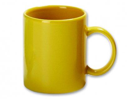 Hrnek keramický MUG 320ml žlutý