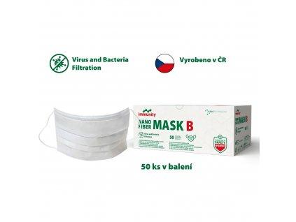 Rouška NANO Fiber mask B ČR 1