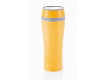 Termo hrnek 400 ml plast oranž