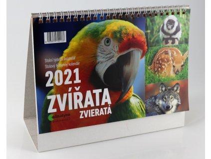 Kalendář stolní Zvířata 2021 8595672700133