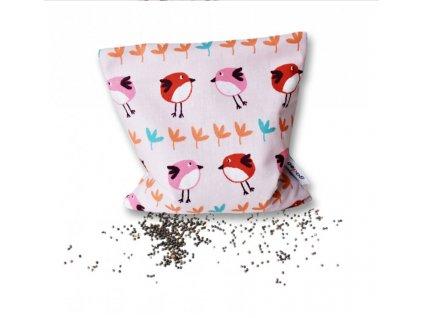 GADEO Řepkový polštářek LITTLE BIRD PINK 1000LBI 3 R