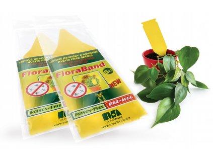 Lepové destičky k ochraně květin před škůdci 5 ks