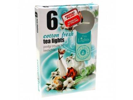 čajové vonné svíčky 6 ks Cotton Fresh
