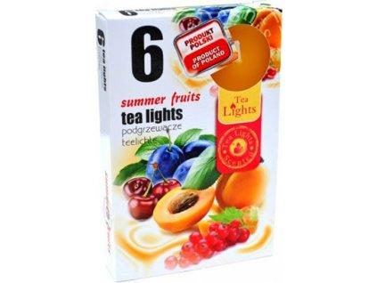 čajové vonné svíčky 6 ks Summer Fruits