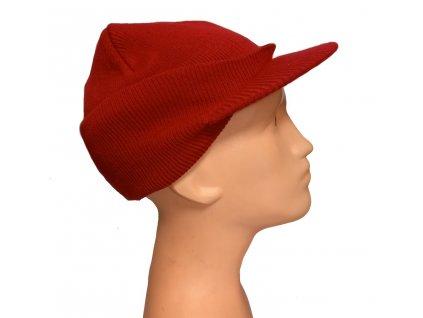 Čepice pletená s kšiltem 2