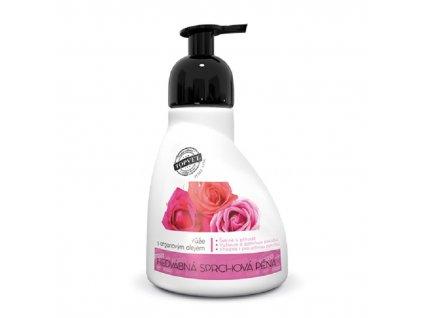 Sprchová pěna růže s arganovým olejem