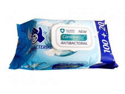 Ubrousky vlhčené antibakteriální 120 ks 1