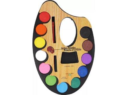 Paleta vodových barev s jedním štětcem 7132223