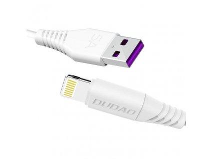 Dudao USB Lightning fasst charging data kabel 5A 1m bílá (L2L 1m white)