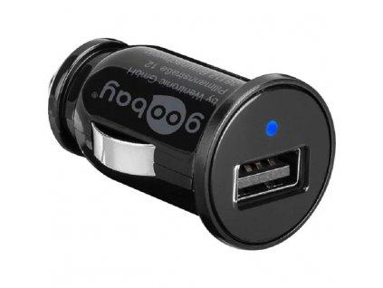 goobay napájecí 12V autoadaptér na 1x USB 1A černý