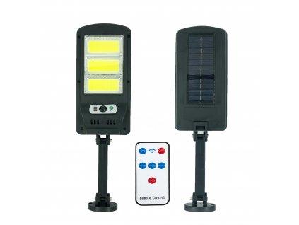 Lampa solární COB LED s pohybovým čidlem a dálkovým ovladačem