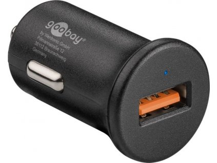goobay Napájecí autoadaptér na USB Quick Charge™ QC3.0 max. 3A