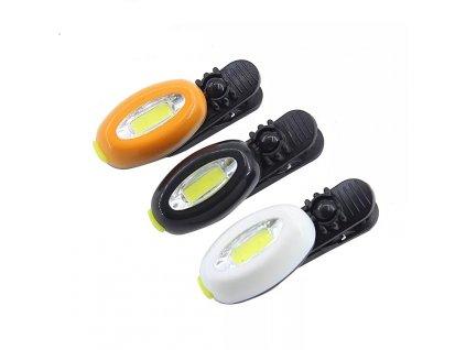 COB LED svítilna s klipem 1