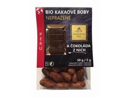 Nepražené kakaové boby z Peru BIO