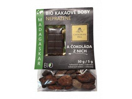 Nepražené kakaové boby z Madagaskaru BIO