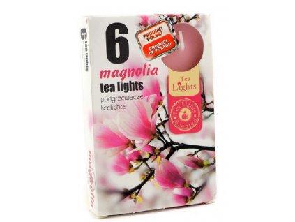 čajové vonné svíčky 6 ks Magnolia