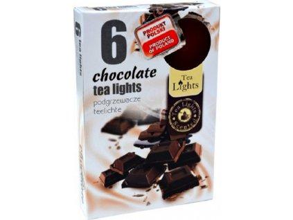 čajové vonné svíčky 6 ks Chocolate